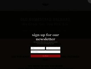 oldhomesteadorchard.com screenshot