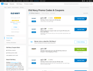oldnavy.bluepromocode.com screenshot