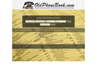 oldphonebook.com screenshot