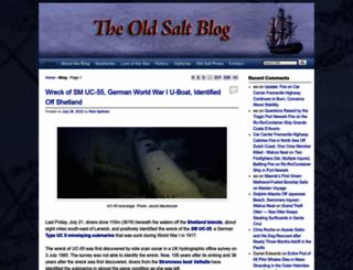 oldsaltblog.com screenshot