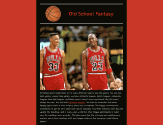 oldschoolfantasysports.com screenshot