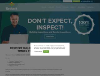 oldsite.resicert.com screenshot
