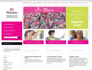 oldsite.womans.org screenshot