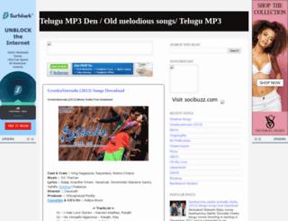 oldtelugump3den.blogspot.in screenshot