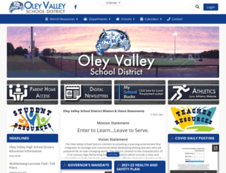 oleyvalleysd.org screenshot
