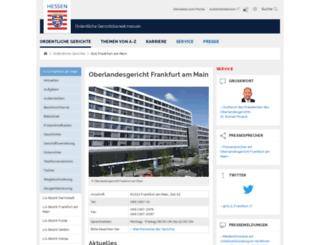 olg-frankfurt-justiz.hessen.de screenshot
