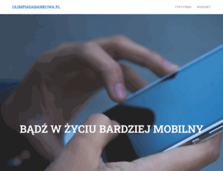olimpiadabankowa.pl screenshot