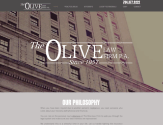 olivelawfirm.com screenshot