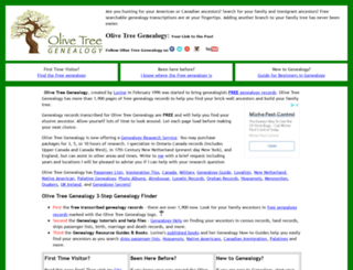 olivetreegenealogy.com screenshot