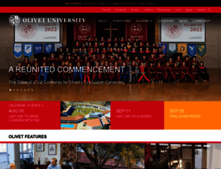olivetuniversity.edu screenshot