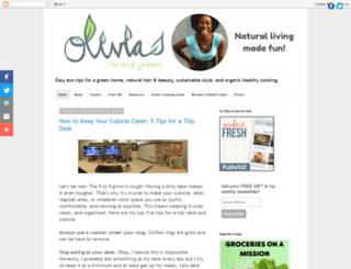 oliviacleansgreen.com screenshot