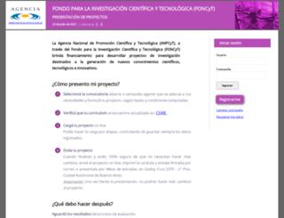 olivos1.mincyt.gov.ar screenshot