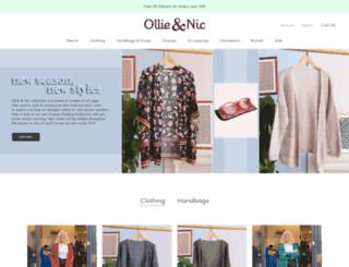 ollieandnic.com screenshot