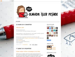 olmadikislerpesinde.blogspot.com screenshot