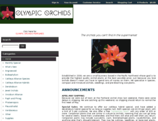 olympicorchids.ihost.net screenshot