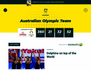 olympics.com.au screenshot