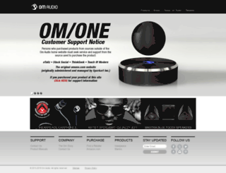 om-audio.com screenshot