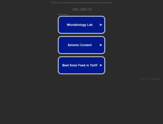 om-labs.de screenshot