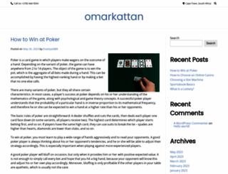 omarkattan.com screenshot