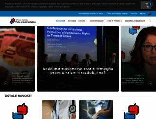 ombudsman.hr screenshot