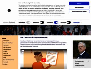 ombudsmanpensioenen.nl screenshot