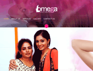 omegabeautyparlour.com screenshot