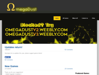 omegadust.weebly.com screenshot