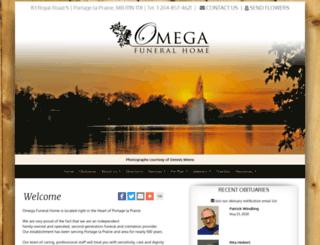 omegafuneralhome.com screenshot