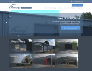 omegasteelbuildingsolutions.co.uk screenshot