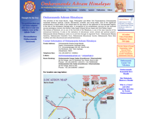 omkarananda-ashram.org screenshot