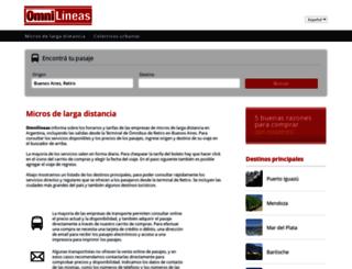 omnilineas.com.ar screenshot