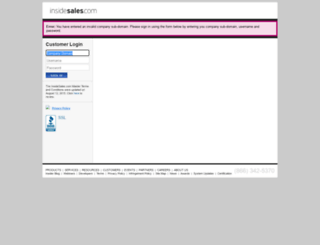 omniture.insidesales.com screenshot