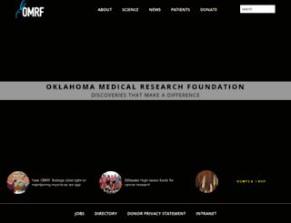 omrf.ouhsc.edu screenshot