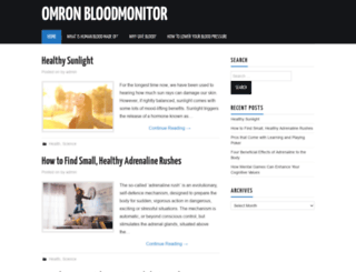 omron-bloodmonitor.com screenshot