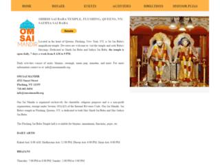 omsaimandir.org screenshot