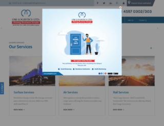 omsanchar.omlogistics.co.in screenshot