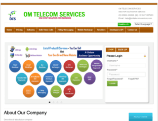 omtelecomservices.co.in screenshot