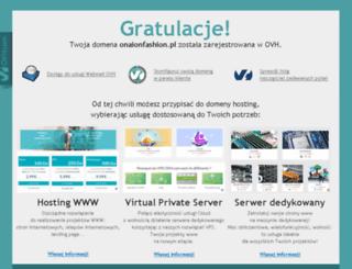 onaionfashion.pl screenshot