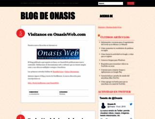 onasis.wordpress.com screenshot