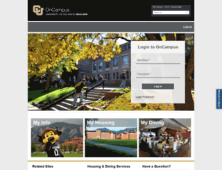 oncampus.colorado.edu screenshot