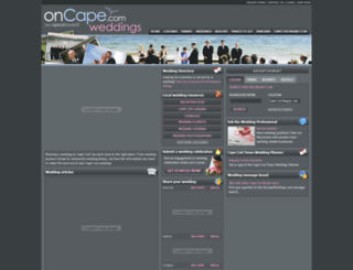 oncapeweddings.com screenshot