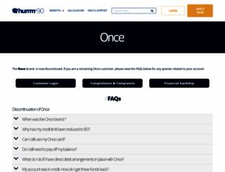 onceonline.com.au screenshot
