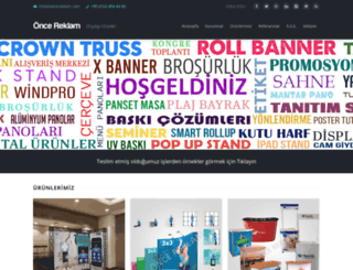oncereklam.com screenshot