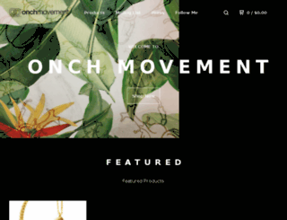 onchmovement.bigcartel.com screenshot