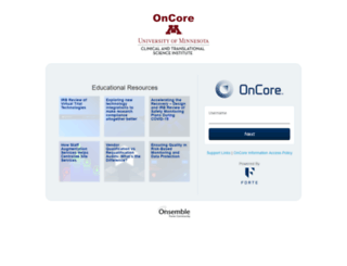 oncore.umn.edu screenshot