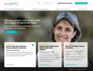 oncotypedx.com screenshot