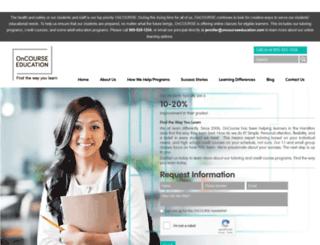 oncourseeducation.com screenshot