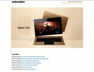 onda-tablet.com screenshot