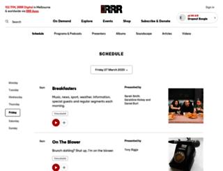 ondemand.rrr.org.au screenshot
