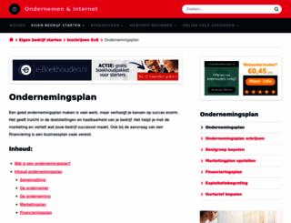ondernemingsplan-maken.nl screenshot